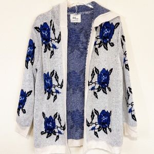 Cotton On Knitwear | Blue Rose Open Front Cardigan
